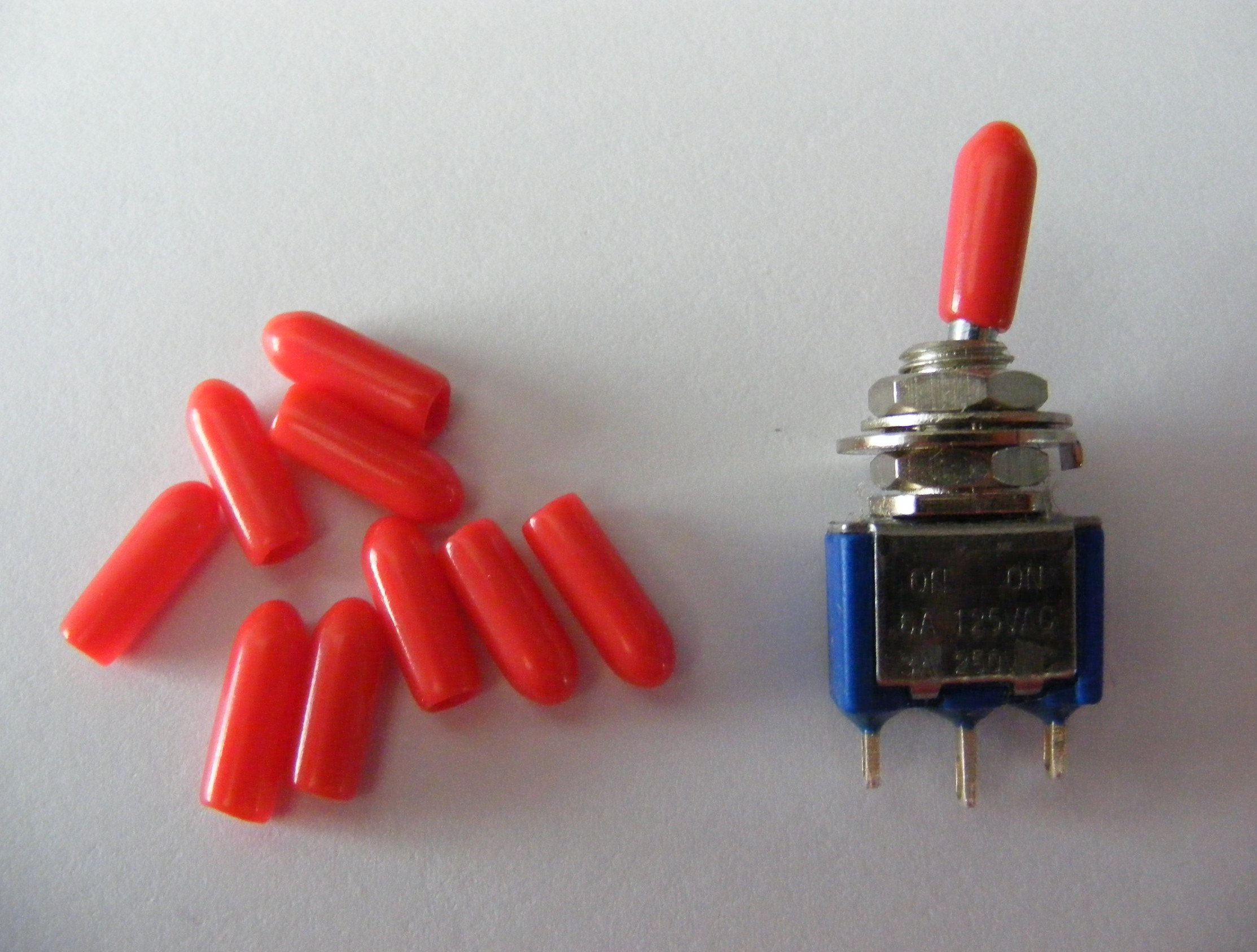 12 X Red Miniature Toggle Switch Covers Tsc01 Ebay